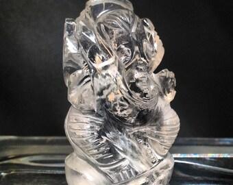 Quartz Crystal GANESH Carving no.03