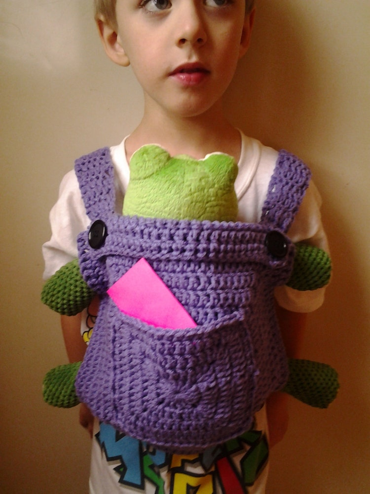 Crochet Baby Doll Carrier-Mei Tai by CrazyLeggies on Etsy