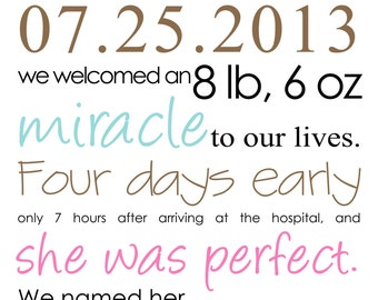 Birth Announcement (set of 24)
