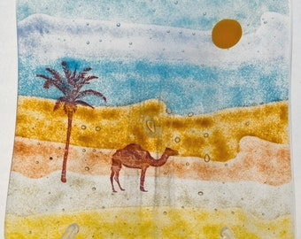 Fused glass dish - At the Desert's Edge