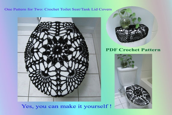 One Pattern For Two Toilet Seat Cover Amp Toilet Tank Lid