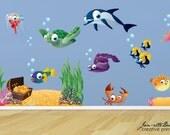 Large Ocean Wall Decals, Deep Sea Treasure Fabric Wall Decal Set, Ocean Wall Art, Ocean Decorations