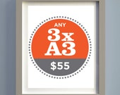 Pick Any Three A3 Prints and Save...