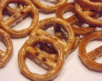 6 look like pretzels acrylic buttons, 25 mm (B10)