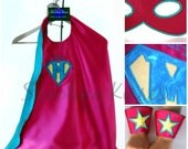 Ultimate Superhero Set: Includes Monogrammed Cape, Cuffs, and Reversible Mask.