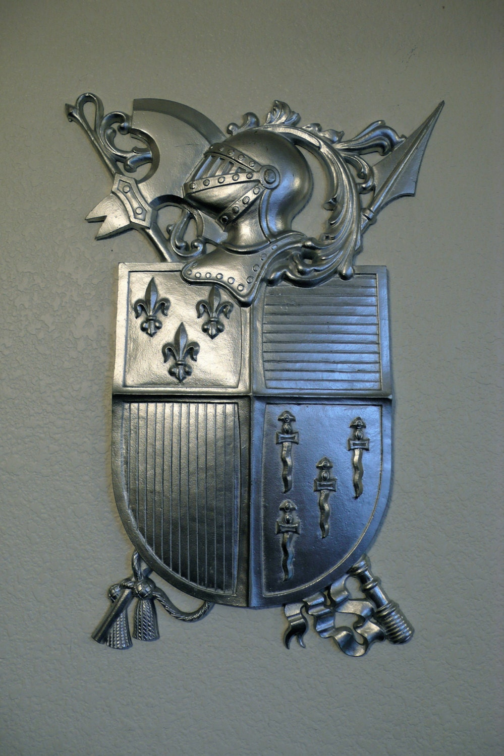 Vintage Medieval Knights Coat Of Arms Wall Decor Old World