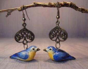 Mountain Bluebird Earrings
