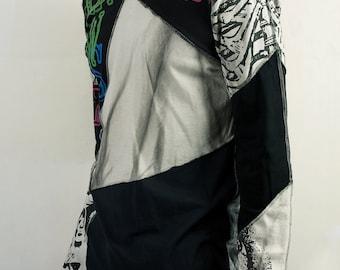 Futuristic kawaii shirt in Gray and Black