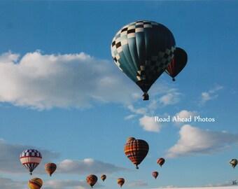 8 x 10 matted photo, hot air balloons, New Mexico, Balloon Fiesta