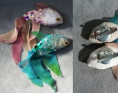 Custom order for chandelier- nature inspired fish brooches