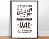 Let's Get It On - Marvin Gaye Lyrics - typography Poster
