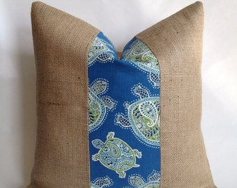 Tranquil Turtle Fabric By Tommy Bahama And Burlap Fabric