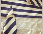 Striped Navy Blue and White, Napkins, Preppy, Nautical, Wedding, Beach, Baby, Bridal Shower