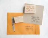 Photography Stamp Set - Photographers Stamp Set - Please Don't Bend Stamp - Thank You Stamp