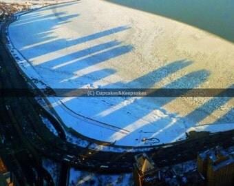 "Chicago ""Ice Shadows 1"" Fine Art Photograph"