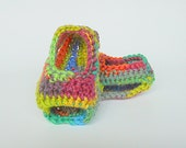 Infant Boy Rainbow Booties Baby Girl Summer Sandals Crib Shoes  3 To 6 Months Purple Orange Tan Yellow Blue Green Crochet Spring Clothing