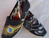 Peacock Feather and Dream Catcher TOMS