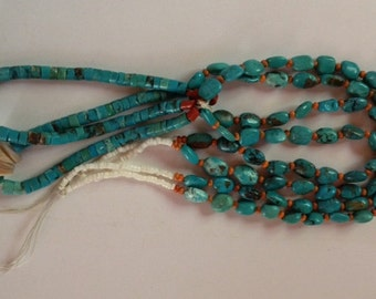 Sale - Vintage Native American Royston Turquoise & Spiny Oyster Jacla Jewelry