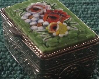 Vintage Italian Micro Mosaic Box