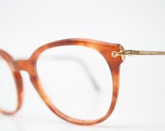 Unique Vintage Gold Glasses Tortoise Square Shaped Eyeglass Frames Retro Eyeglasses