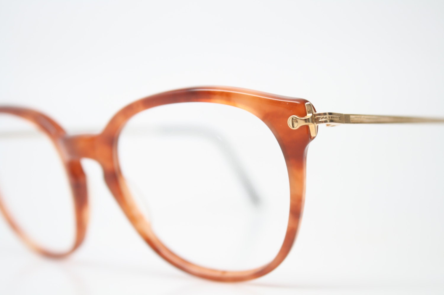 unique vintage gold glasses tortoise square shaped eyeglass