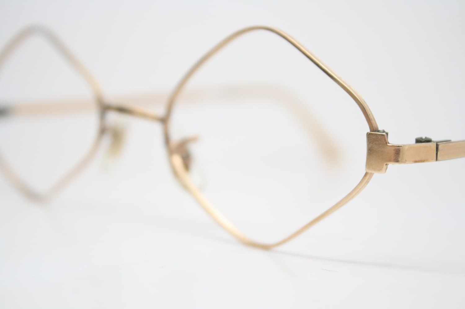Vintage Diamond shaped Glasses Frames 1/20 12k Gold vintage