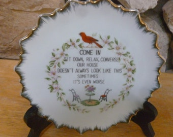 Vintage Dirty House Wall plate