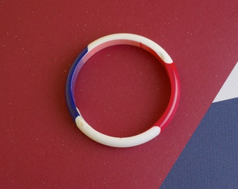 Red White and Blue Bangle 50s Vintage