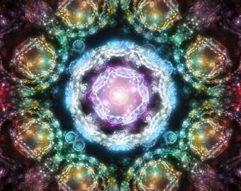 Rainbow lantern -  fractal artwork digital download, original home / interior decoration