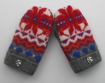 Felted Mittens from Repurposed Sweaters