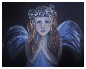 "Original 10 x 8 ""Child Angel Within"" Fine Art Modern Print, Child Angel, Inspirational, Motivational and Creative"