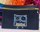 Crazy Owl Small Clutch
