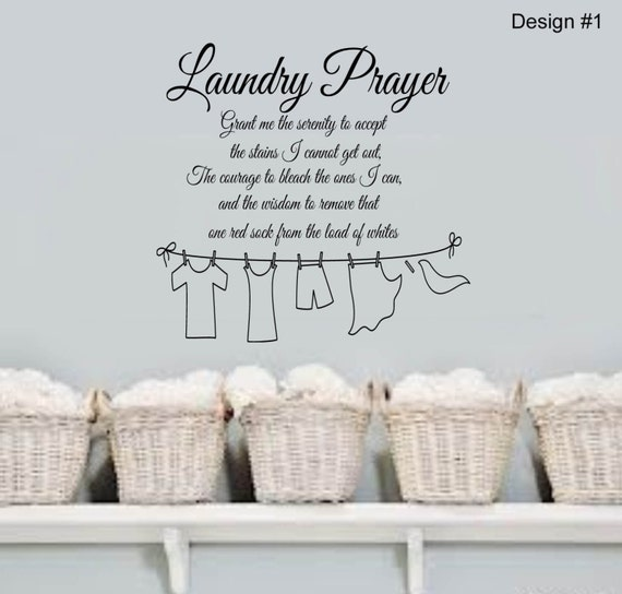 Laundry Prayer Grant Me The Serenity Home Vinyl Wall By