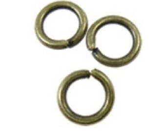 100pc 6mm antique bronze finish jump rings gauge 18-8057