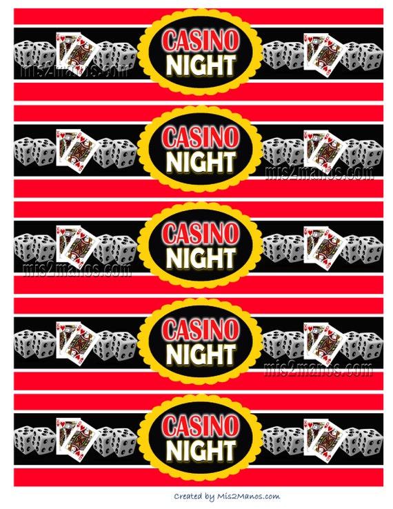 Casino themed napkin rings