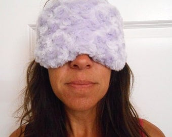 Lovely Lavender Minky Sleep Mask
