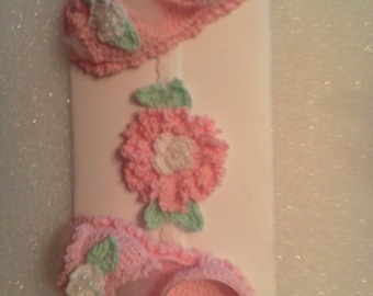 0 to 3 mo baby sandals and headband