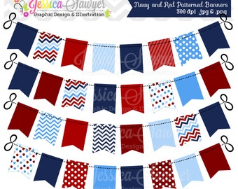 INSTANT DOWNLOAD, nautical banner clipart for personal and commercial use