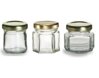 6 15 oz mini glass jars for diy wedding jam jelly honey favors - Spice Jars