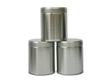 3 pcs, Wide Tea Tin Containers with Twistlug Lids