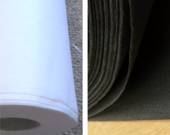 Medium weight NON-WOVEN fusible iron on interfacing 70cm wide - Sold by the metre Black & White available (I4, I7)