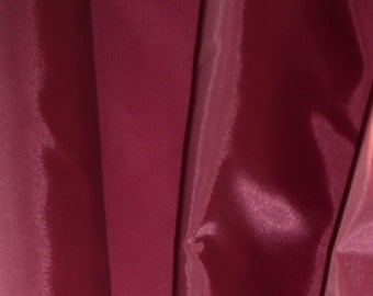 Wine Burgundy Dark Red Anti Static Lining Fabric 150cm wide -  Sold by the metre