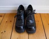 90s SODA Black Chunky lace up platforms