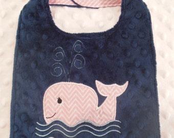 Pink Whale Bib