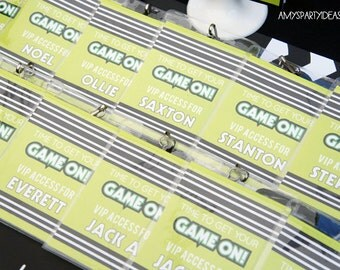 Video Game Birthday Party   Gamer Party   Gamer VIP Access Passes Badges   Gamer Decorations   Truck   INSTANT DOWNLOAD   LuluCole