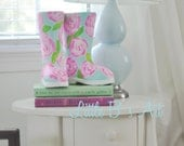Lilly Pulitzer Inspired Paper Rain Boots