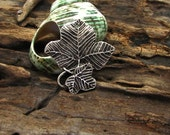 3 pcs findings - supplies - silver plated - charm -  sycamore leaf -  bracelets -earrings - necklace