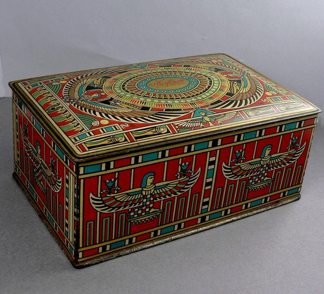 Tin Mailbox: Vintage Art Deco Huyler's Candy Tin Canco Beaute Box