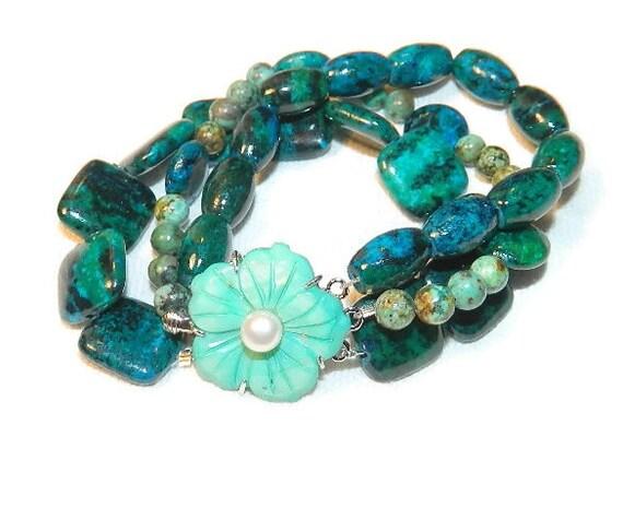 Chrysocolla calming bracelet
