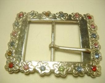 RHINESTONE PICTURE FRAME Belt Buckle (1482)